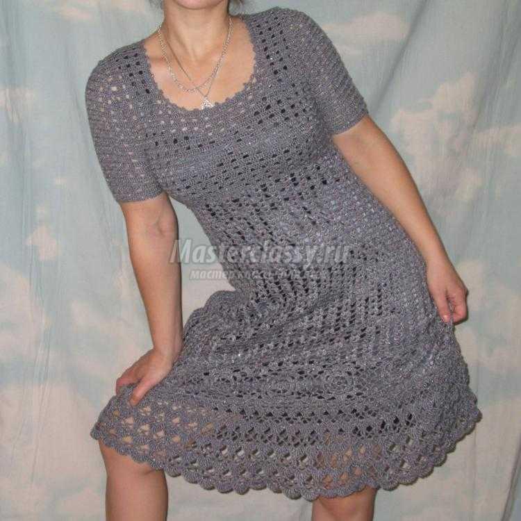 Вязание крючок платье мк