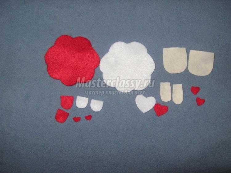 влюбленные овечки из фетра ко дню Святого Валентина