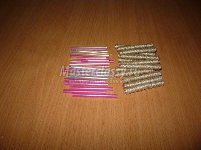 шкатулка-колодец для украшений из шпагата и картона