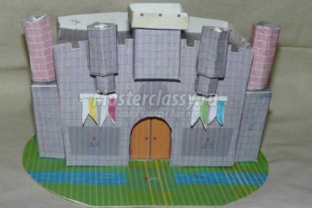 сказочный замок из бумаги. Белоснежка и гномы