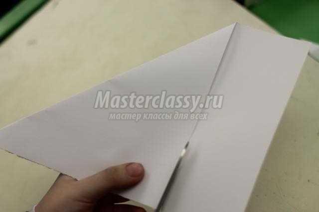 новогодняя открытка из бумаги. Снежинка-балеринка