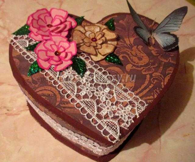 скрапбукинг шкатулка ко Дню Валентина. Хрупкое сердце