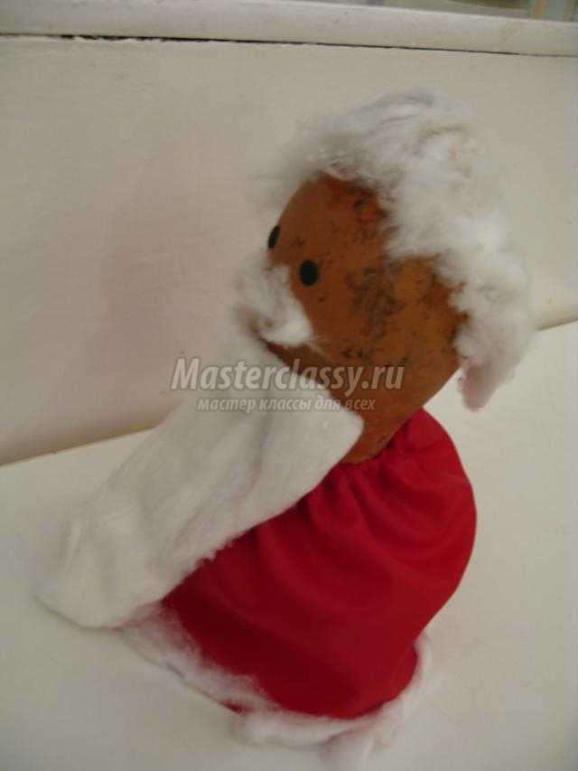 Дед Мороз из тыквы своими руками