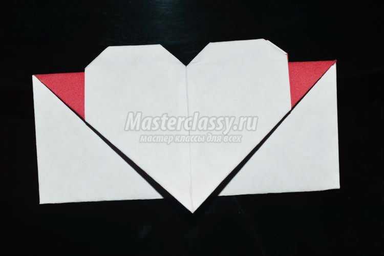 оригами. Валентинка-конверт с сердечком к 14 февраля