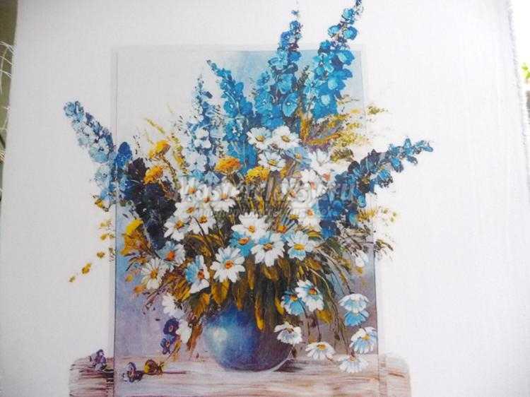 Вышивка лентами. Картина «Букет полевых цветов». Часть 4. Мастер ... 1281855057481