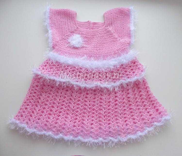 Платье для девочки столбиками без накида