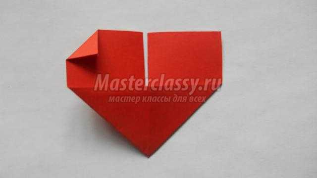 оригами закладка ко дню влюбленных. Сердце