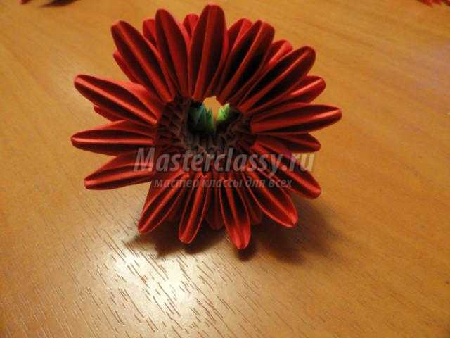 модульное оригами. Букет цветов к 8 Марта