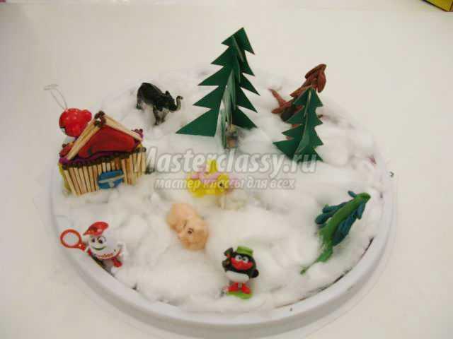 Ёлочки из снега своими руками