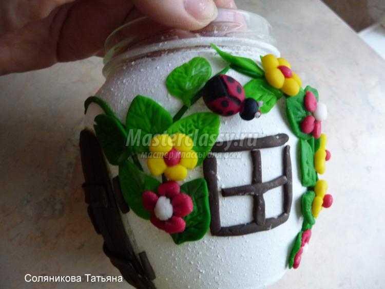 сказочный домик из холодного фарфора