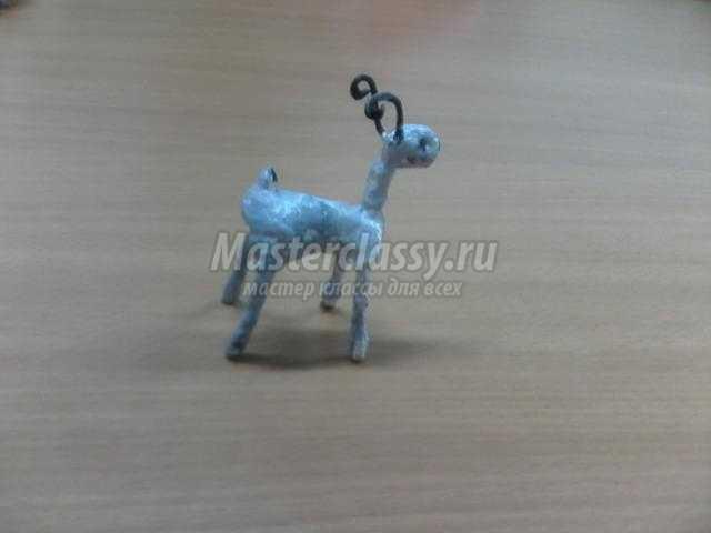новогодняя игрушка из ваты. Коза
