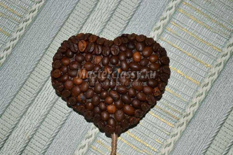 кофейный топиарий с сердцами. Валентинов день