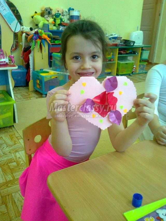 объемные валентики из бумаги с цветами. Мастер-класс
