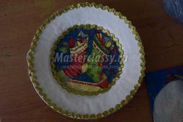 сувенирная тарелочка в технике декупаж