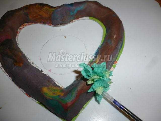 сердце из салфеток в технике торцевание