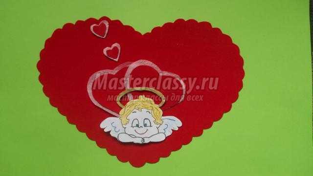 открытка-валентинка своими руками. Купидон