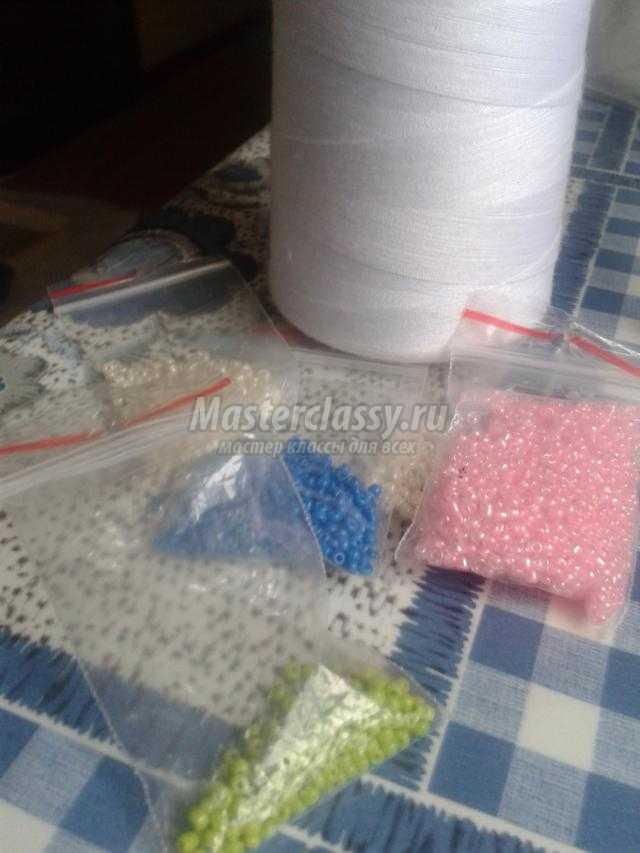 вышивка бисером браслета