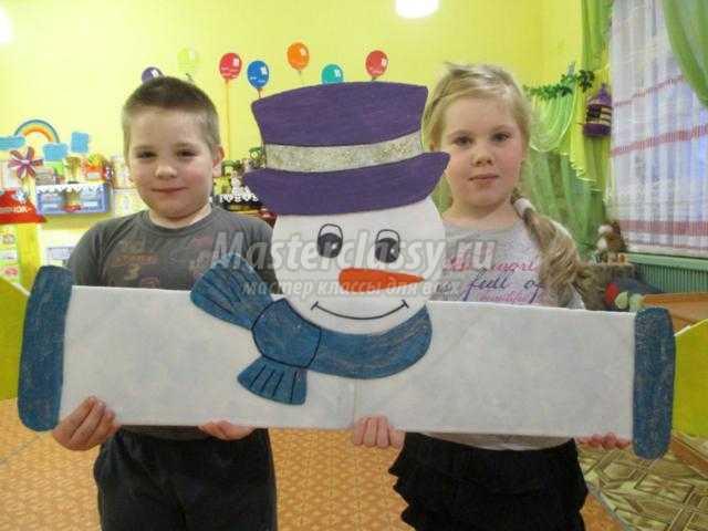 снеговик из потолочной плитки