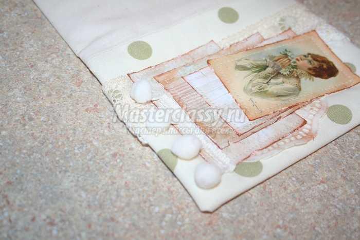 Блокнот ручной работы в технике скрапбукинг в стиле шебби