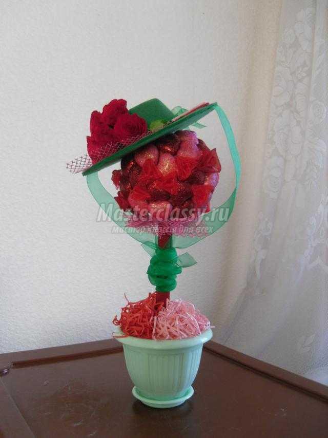 топиарий с сердечками ко Дню Валентина