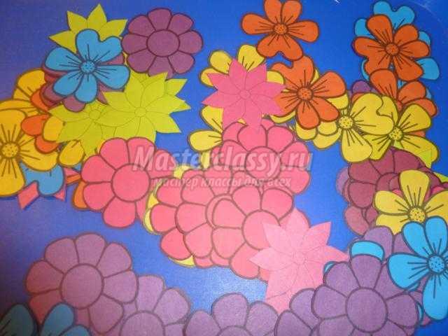 открытка-восьмерка с цветами своими руками