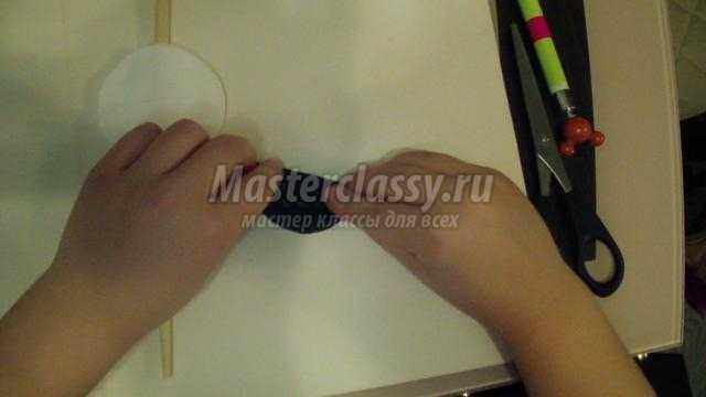 поделки из ватных дисков. Аистенок