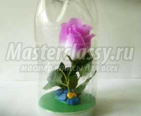 Подарок маме на 8 Марта из пластиковой бутылки и розы. Мастер-класс