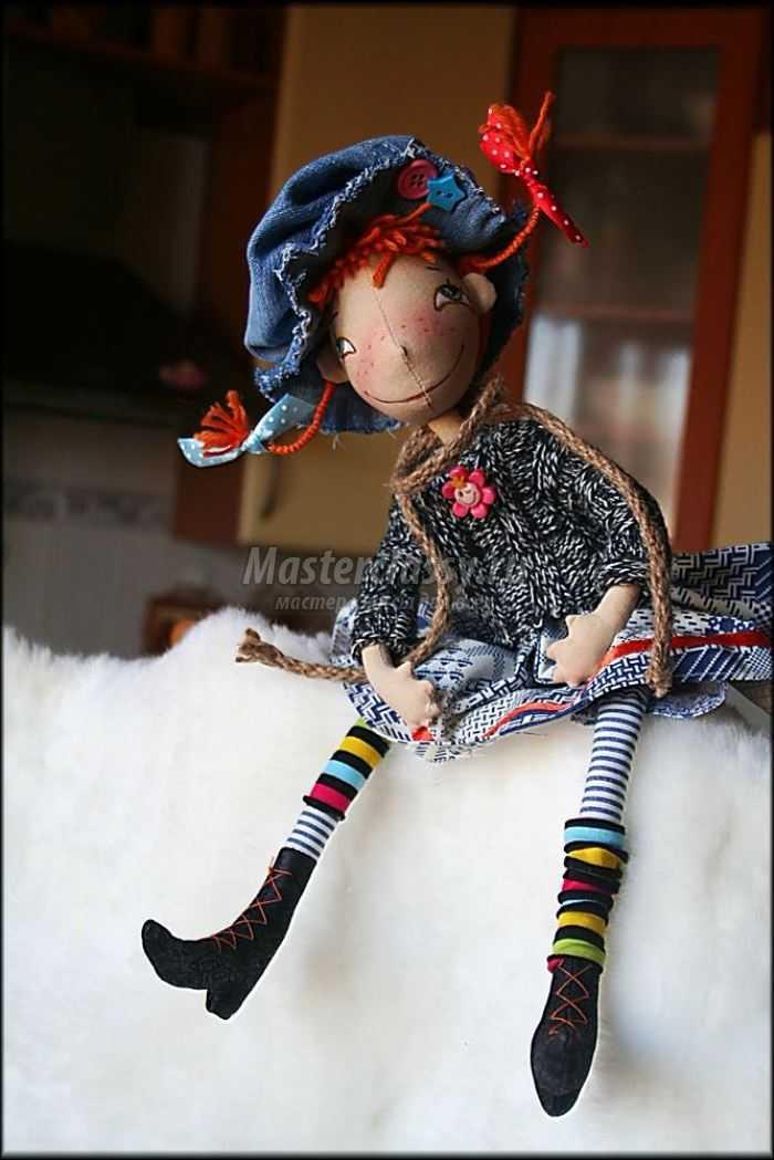 Шьем куклу Пэппи длинный чулок