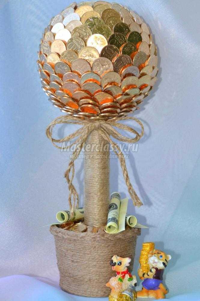 Денежное дерево из монет своими руками мастер 23