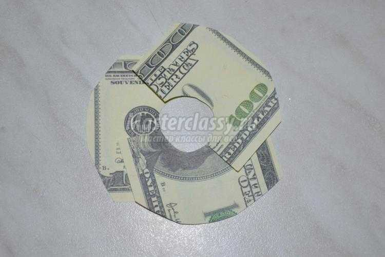 денежный топиарий из долларов для мужчины