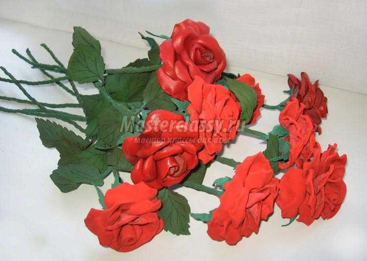Розы своими руками из кожи