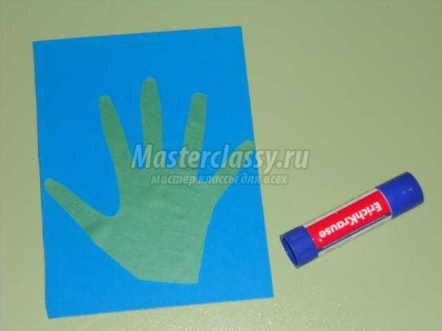 открытка из бумаги и пластилина. Первые цветы