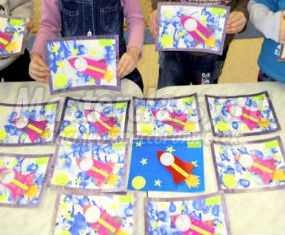 Аппликация с фото ребенка в подарок папе на 23 февраля. Мастер-класс