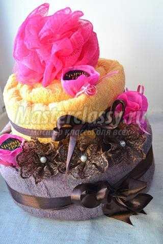 Торт из полотенец