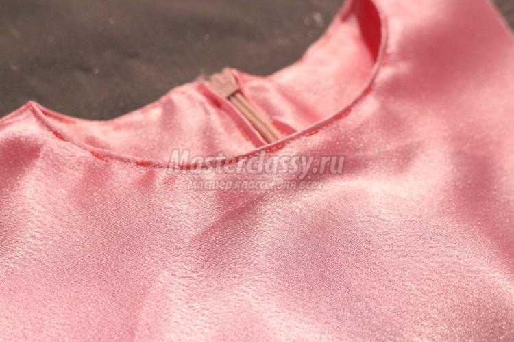 нарядное атласное платье для девочки
