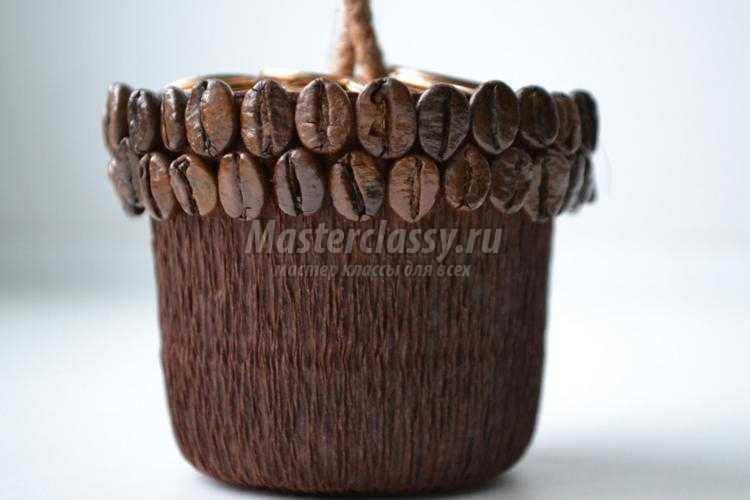 кофейный топиарий с монетами