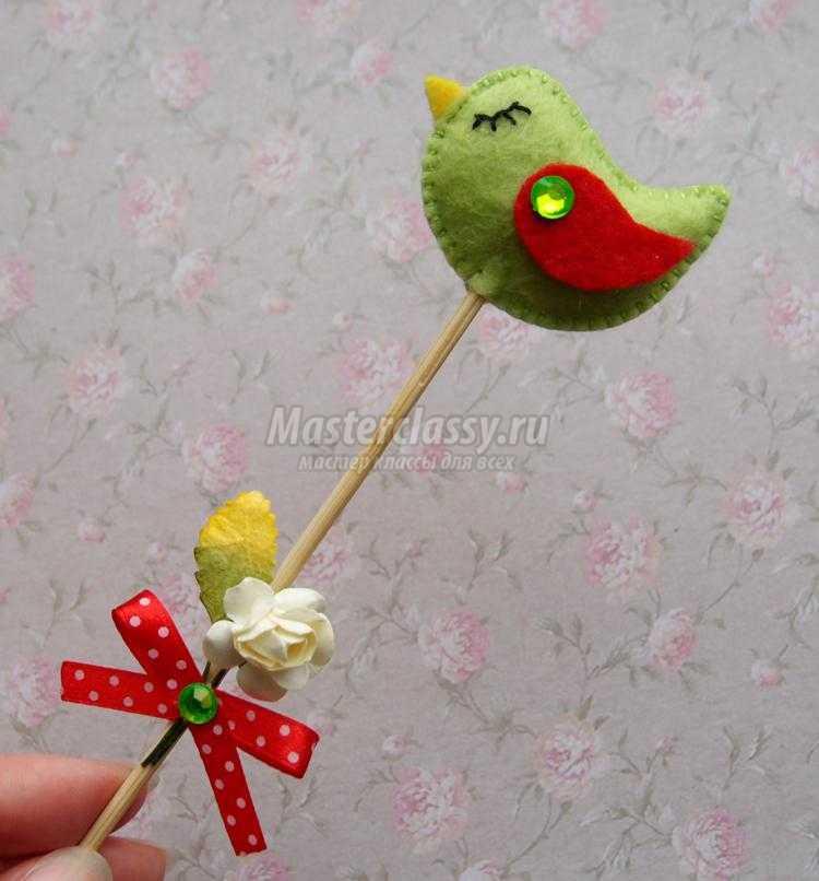 декоративные птички из фетра