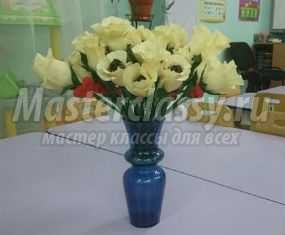 Мастер-класс. Розы с конфетами для любимой мамочки на 8 Марта