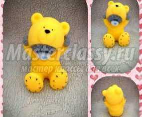 Мыльный мишка Тедди в костюме на 8 Марта. Мастер-класс