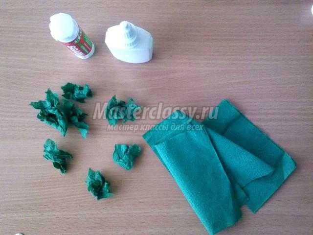 объемная аппликация из природного материала и бумаги