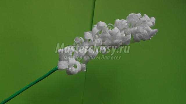 гиацинты из гофрированной бумаги