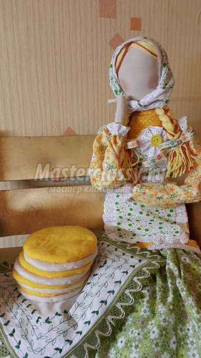 «Кукла-Масленица с каркасными руками». Мастер-класс с пошаговыми фото.