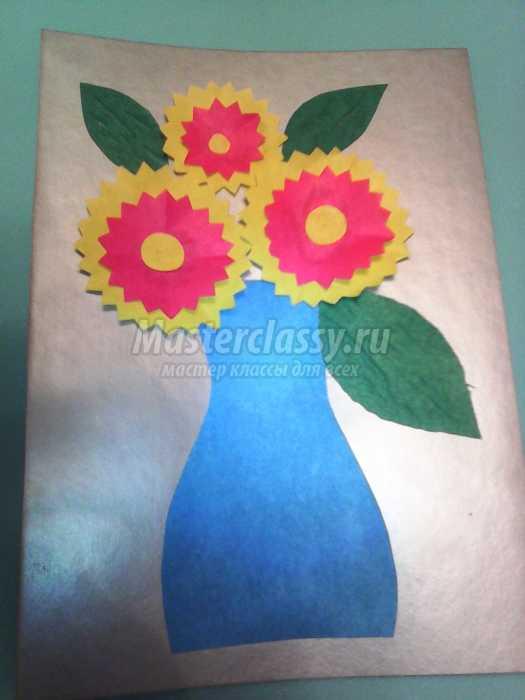 Открытка к 8 Марта «Ваза с цветами»