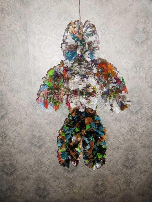 Кукла из фантиков. Пошаговый мастер-класс с фото
