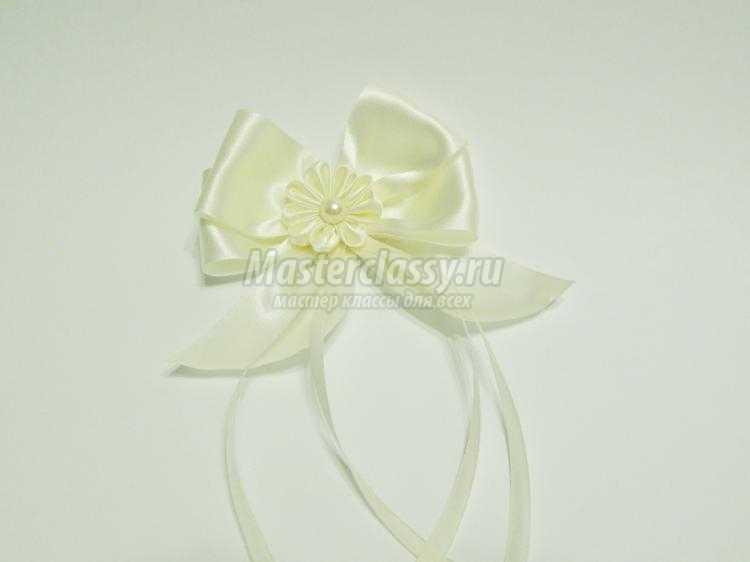 Бант цветок из атласной ленты своими руками фото 392