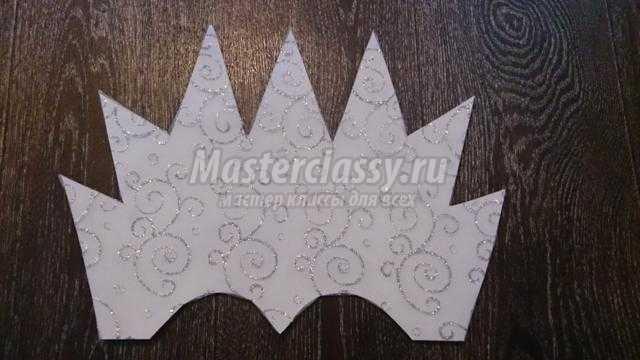 корона для Снежной королевы из ткани