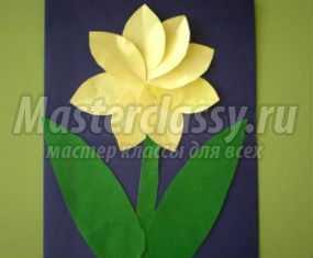 Аппликация из бумаги на 8 Марта. Цветочек для мамочки. Мастер-класс
