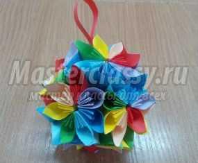 Модульное оригами. Цветочный букет на  8 Марта. Мастер-класс