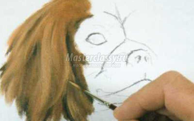 изображение меха при рисовании