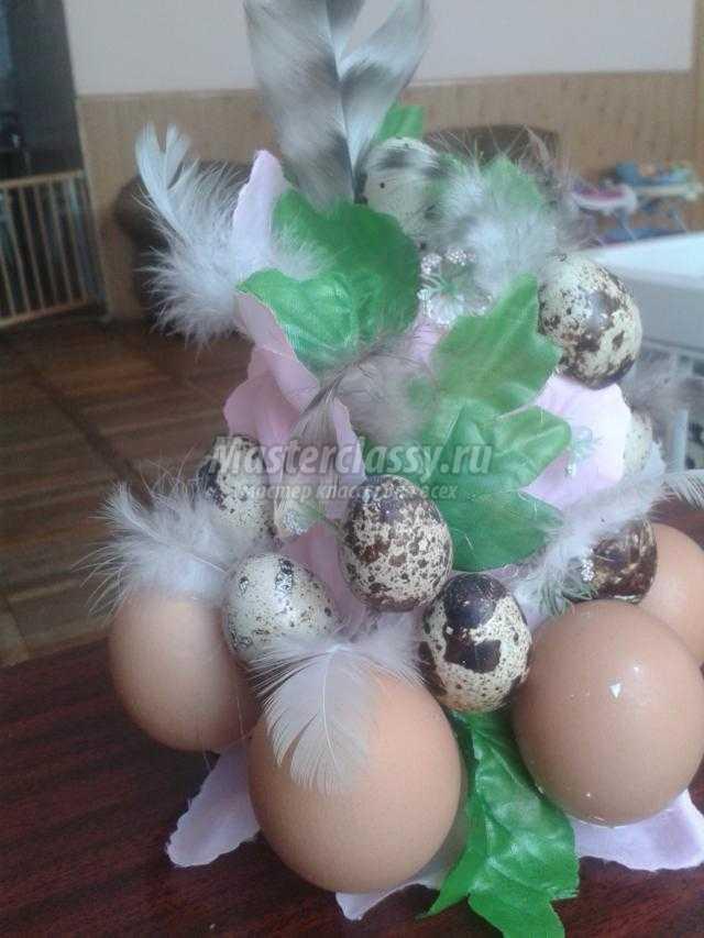 пасхальная композиция из скорлупок яиц